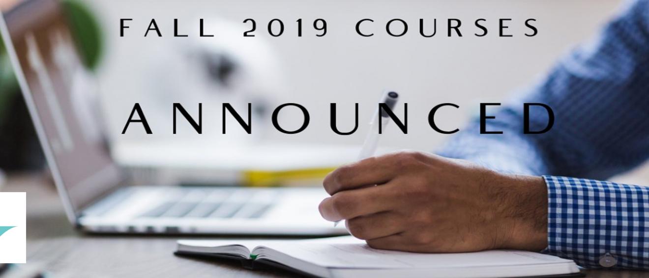 Fall 2019 Courses